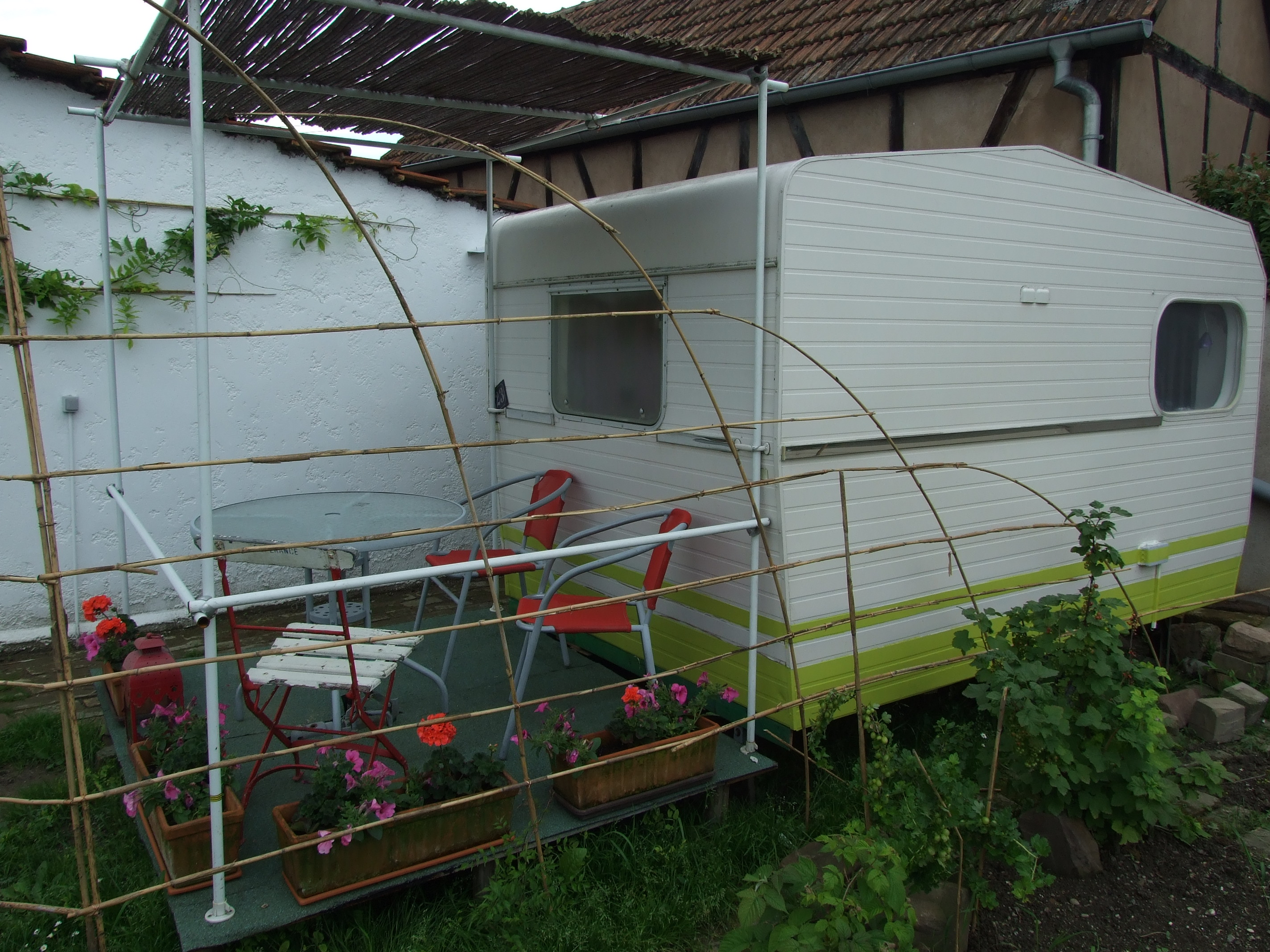 Caravan room - at the bottom of the garden